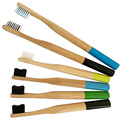 Soft Charcoal bristle Bamboo Toothbrush Set With 4pack