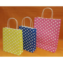 Christmas Custom Color Twist Handle Paper Bag