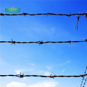 Galvanized barbed wire rol