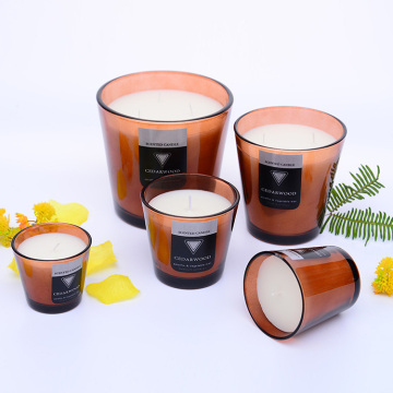 Round Shaped Light Transparent Scented Soy Candle