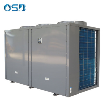 Air source heat pump for heating and cooling