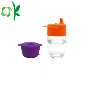 Non-toxic Silicone Coffee Straw Cup Lids for Kids