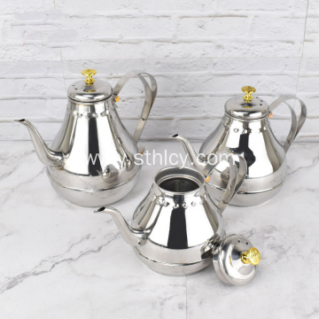 Stainless Steel Court-Spout Coffee Pot