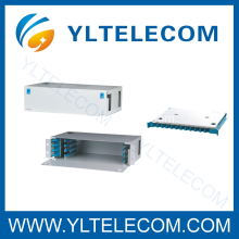 19 Inch 2U 48Core Sliding Fiber Optic Patch Panel ODF Fixed Type