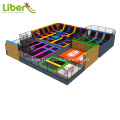 Multifunction attractive indoor trampoline park with airbag