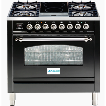 Black Cooker Electric Oven Freestanding