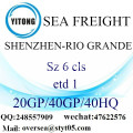 Shenzhen Port Sea Freight Shipping To Rio Grande