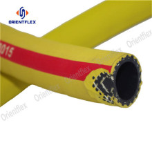 Orange braided wrapped flexible air hose