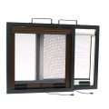 Retractable window with aluminum frame 0928