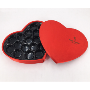 Heart Shaped Chocolate Paper Box with Insert