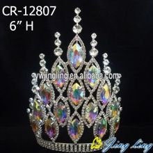 Jingling Crown AB Rhinestone Tiaras And Crowns Wedding