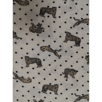 Dots Animal Rayon Challis 32S Printing Fabric