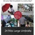 24K Ribs Auto Open Golf Umbrella Windproof
