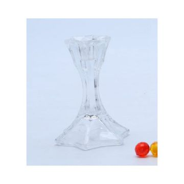Long Stem Glass Candlestick Holder