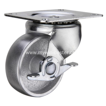3  Inch Plate Swivel with side bracket Cast Iron wheel