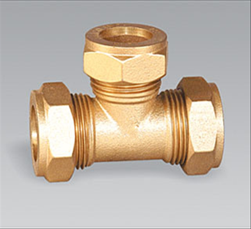 Brass pipe fitting brass Female Equal Tee
