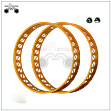 Gold colored bike alloy aluminum wheel rim