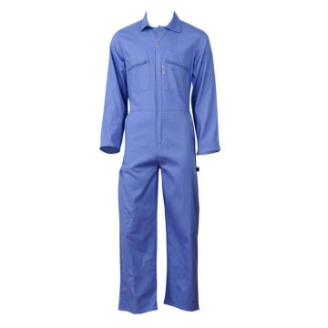 Blue color coverall basic style work wear