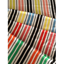 Stripe Design Rayon Challis 30S Light Printing Fabric