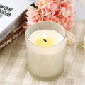 Scented Frosted White Glass Filled Soy Aroma Candle