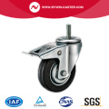 Braked Threaded Swivel Rubber Medium Duty Industrial Wheels