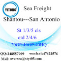 Shantou Port Sea Freight Shipping To San Antonio