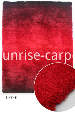 microfiber with gradational color carpet