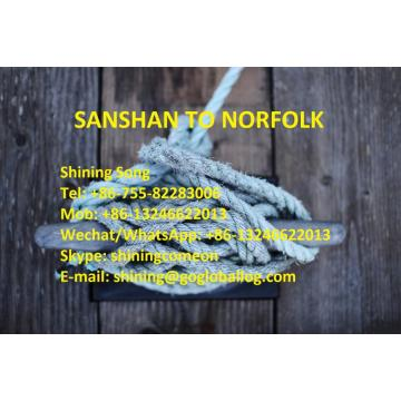 Foshan Sanshan Sea Freight to United States Norfolk
