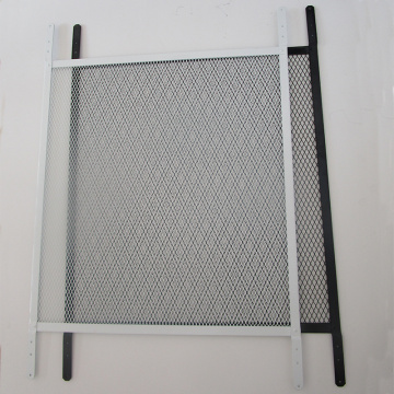 Steel ventilation grille door and window