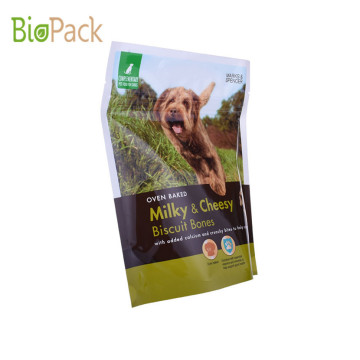 Popular Eco-friendly material Stand Up Pouch For Animal Feeds With Zipper And Custom Priniting