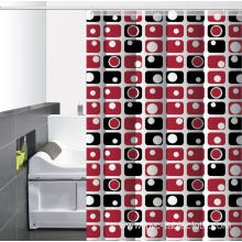 Waterproof Bathroom printed Shower Curtain Gauge