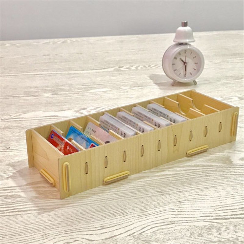 Wooden Box With Ten Boxes Of Business CARDS