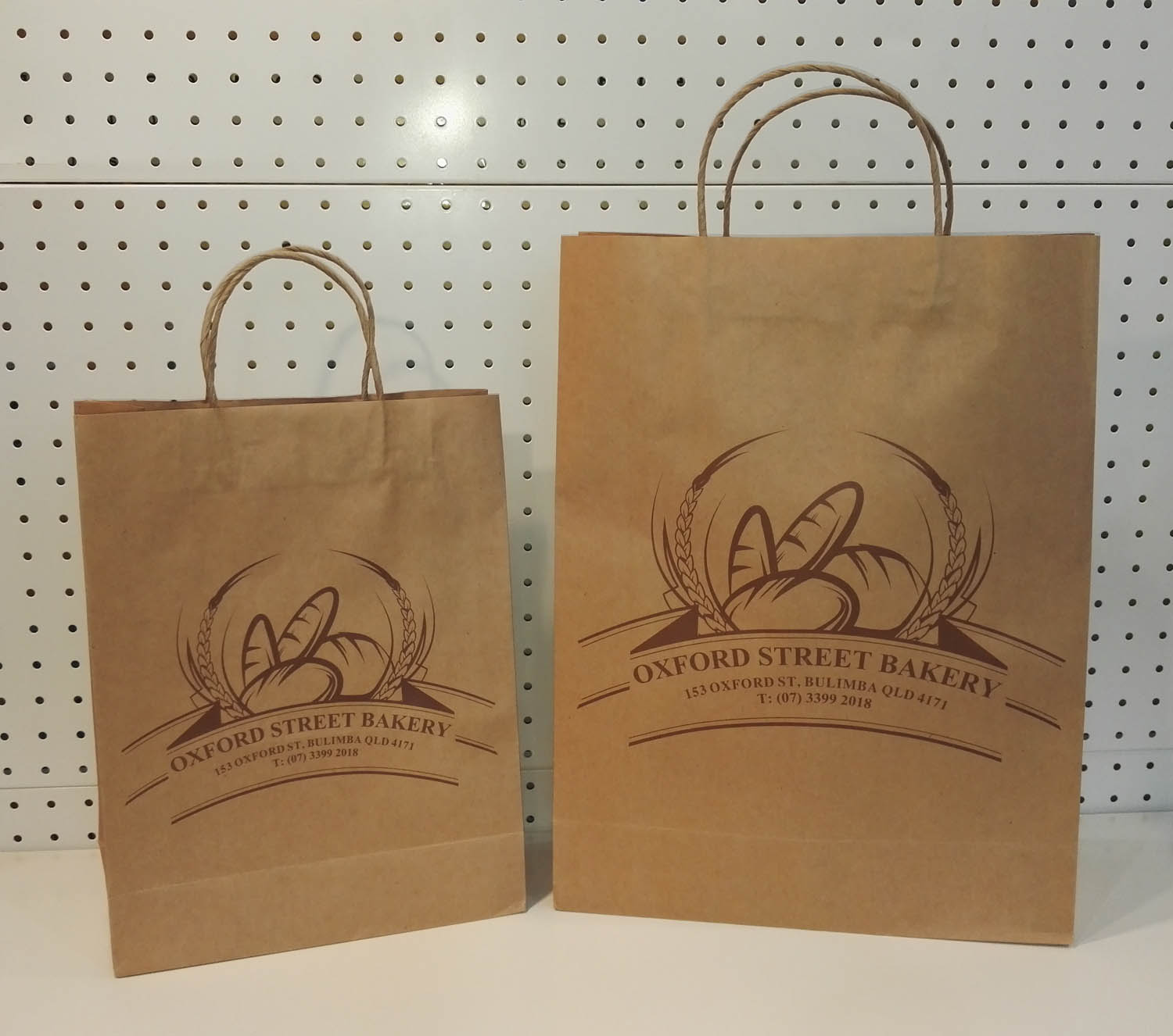 Custom printed recycled paper bags