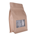 Stock Flat Bottom Bags With Clear Window