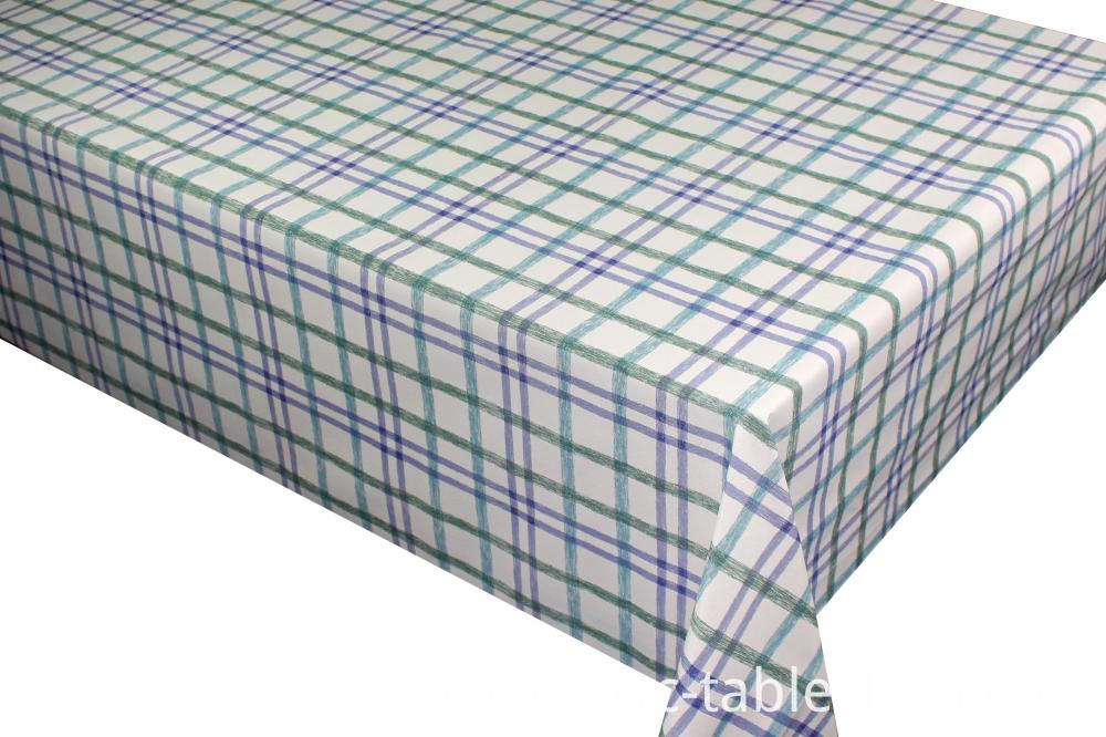 Pvc Printed With Non Woven Backing Tablecloth