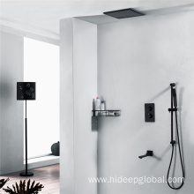 Wall Mounted Thermostatic Black Shower Faucet