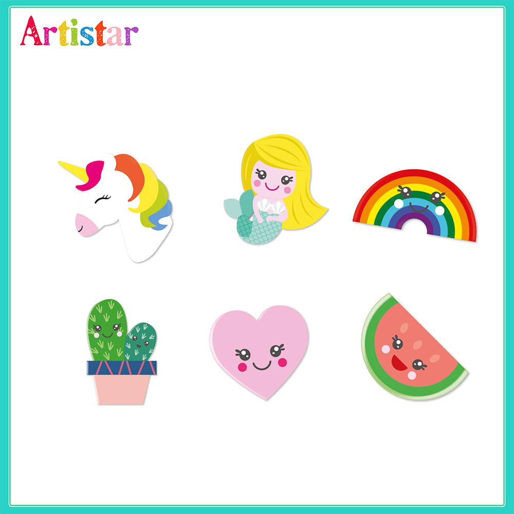 Cute Blister Card 6 Pack Erasers 2