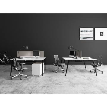 4 person modern office desk