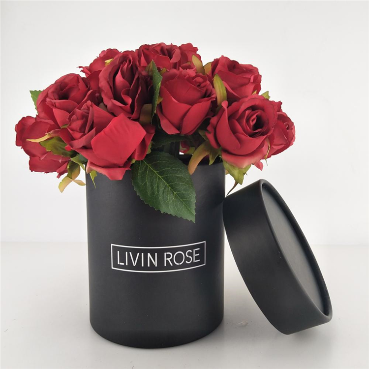 Gift Packaging Black Cylinder Paper Box For Wedding