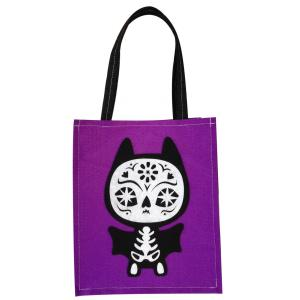 Halloween tote candy bag with cute bat pattern