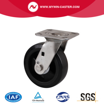 Stainless 6 Inch 240Kg Plate Swivel Plastic Caster
