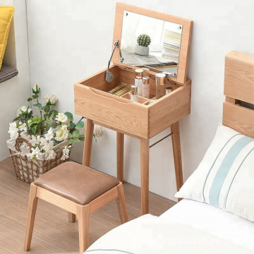 oak wood model vanity  dressing table