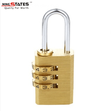 High Permance for Brass Combination Locks 21MM 3 Digit Combination Lock Code Padlock export to India Suppliers