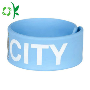 Candy Color Simple Silicone Slap Bracelet for Gift