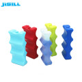Wave Shaped Ice Pack Bottle Can Cooler Brick