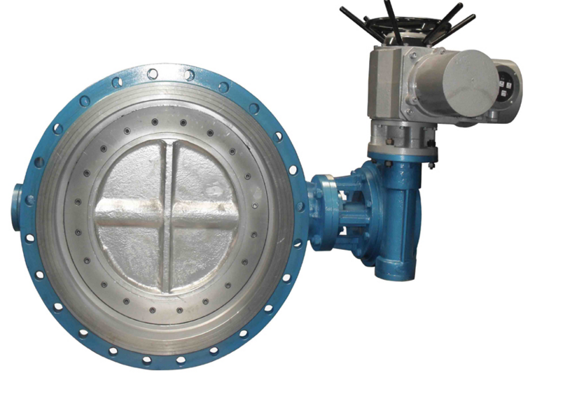 DN750 Double Flange Cast Iron Motorized Butterfly Valve