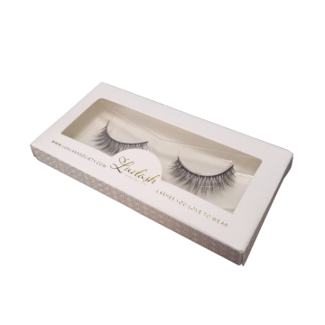 Gold Foil Matte White Paper Eyelash Extensions Box