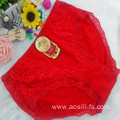 OEM wholesale China red sexy comfortable lace elastic fancy underwear 5851