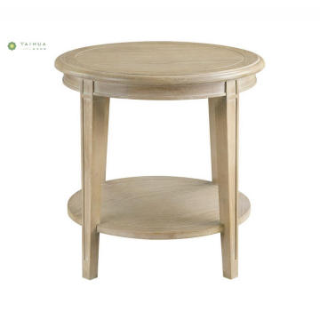 Double Top Buong Solid Wood End Table