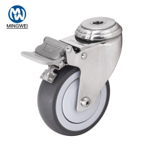 4 Inch Bolt Hole Caster With Brake